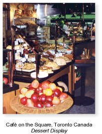 Café food display